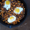 Thumbnail image for Sweet Potato Hash with Sausage and Baked Eggs