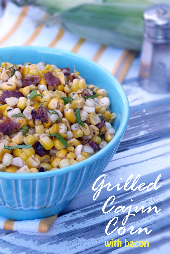 Post image for Grilled Cajun Corn with Bacon