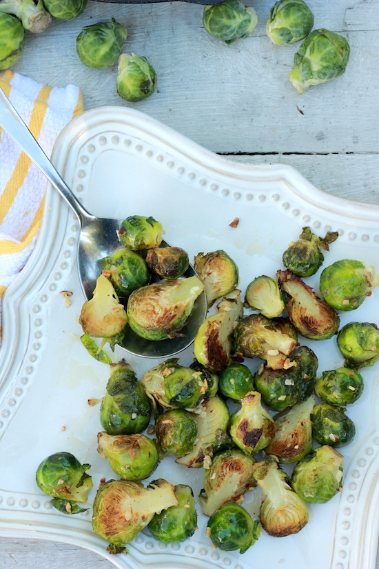 Spicy Garlic Brussel Sprouts